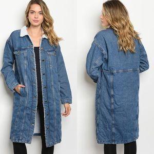 🆕Just In, Denim blue long coat